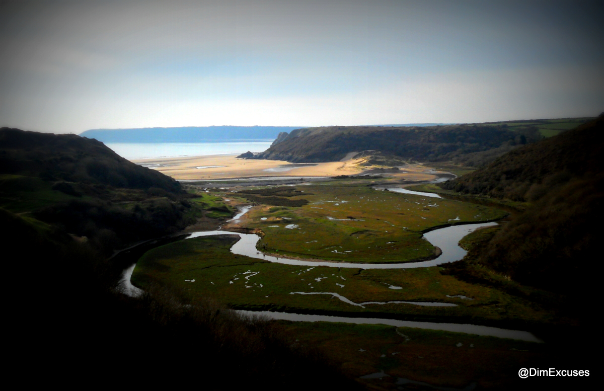Image result for three cliffs river